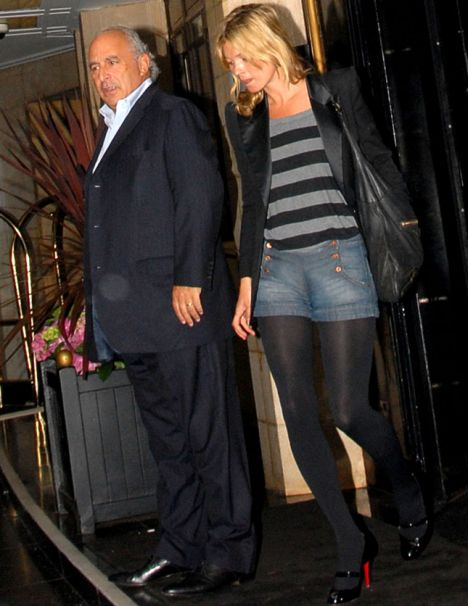 A PHOTO OF PHILIP GREEN AND KATE MOSS IN LONDON DORCHESTER HOTEL MAYFAIR