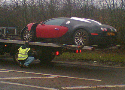 BUGATTI VEYRON SMASHED UP CRASH OUCH VIP LUXURY CARS NO7 AGENCY