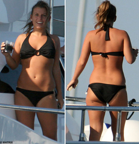 Coleen McLoughlin in ibiza on yacht 2