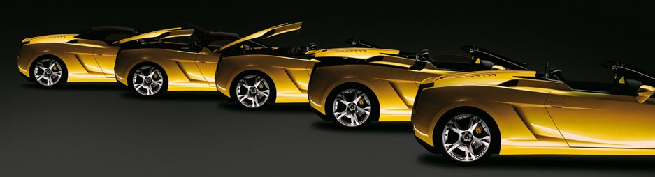 LAMBORGHINI GALLARDO ROADSTER YELLOW SUPERCAR MADE IN ITALY 1