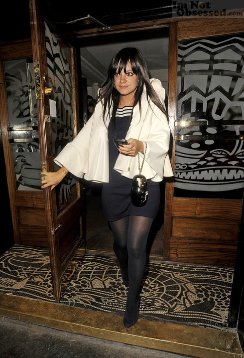 LILLY ALLEN PAPARAZZI LONDON GROUCHO CLUB 1