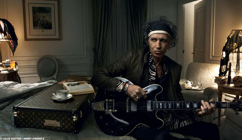 LUXURY LIFESTYLE ESSENTIALS LOUIS VUITTON KEITH RICHARDS ROLLING STONES LUXURIOUS TRAVEL LUGAGE