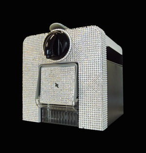 The worlds most expensive | Well, this bling encrusted Nespresso Crystal Coffee Machine from Goldstriker International must be a contender. It retails for a cool £1,995 ($2,000).