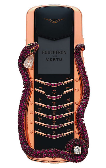 THE WORLDS MOST EXPENSIVE MOBILE PHONE The Cobra (pictured) is