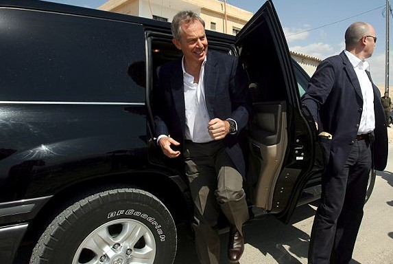 tony blair vip security bodyguards armoured vehicles SUV ex military security team